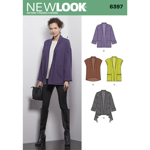 New Look Pattern 6397 Misses' Jacket and Vest