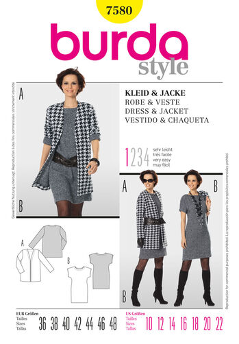 Burda Style Pattern 7580 Jacket & Dress