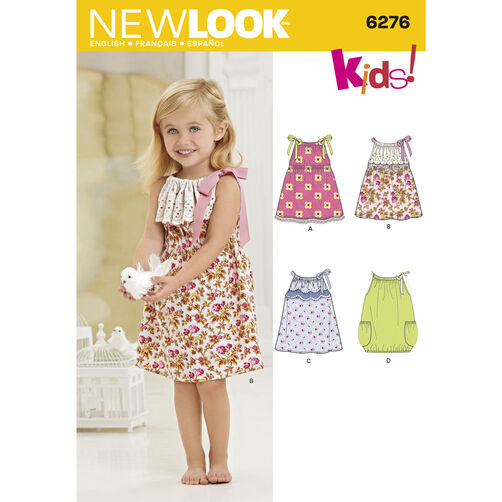 New Look Pattern 6276 Toddlers' Dresses