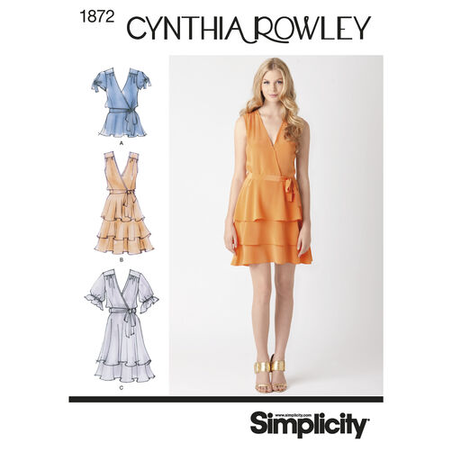Simplicity Pattern 1872 Misses' Dresses Cynthia Rowley Collection