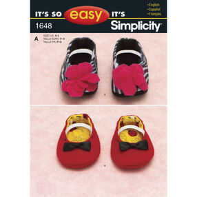 It's So Easy Pattern 1648 Babies' Shoes