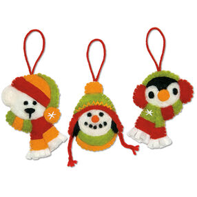 Holiday Smiles Ornaments in Needle Felting_72-08197