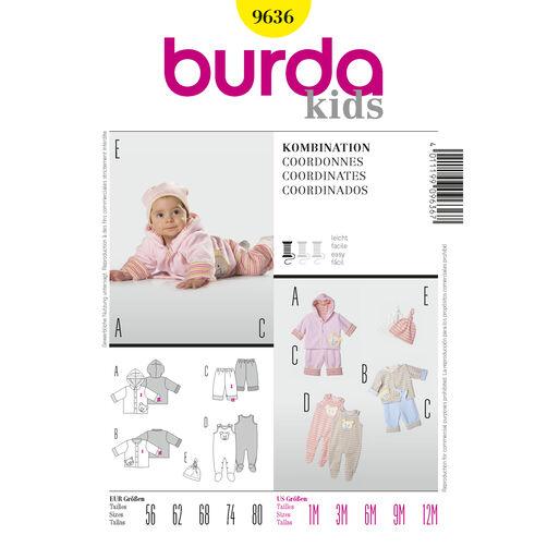 Burda Style Pattern 9636 Coordinates