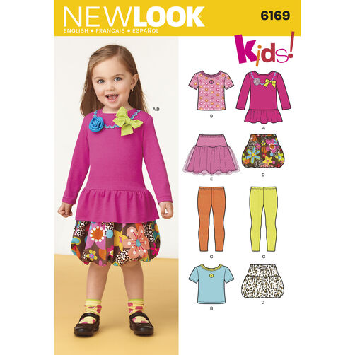 New Look Pattern 6169 Toddlers' Separates