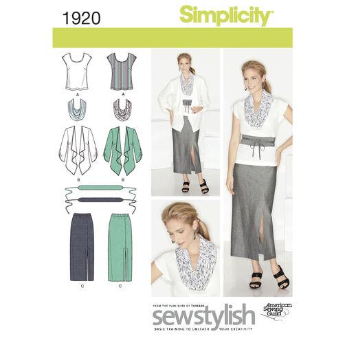 Simplicity Pattern 1920 Misses' & Plus Size Sportswear