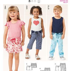Burda Style Pattern 9388 Toddlers' Pants