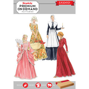 Simplicity Pattern EA504101 Premium Print On Demand Costume Pattern