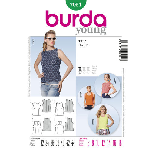 Burda Style Pattern 7051 Top