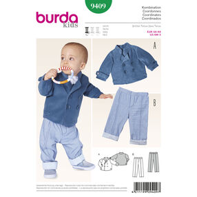 Burda Style Pattern 9409 Toddlers
