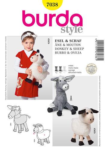 Burda Style Pattern 7038 Donkey & Sheep