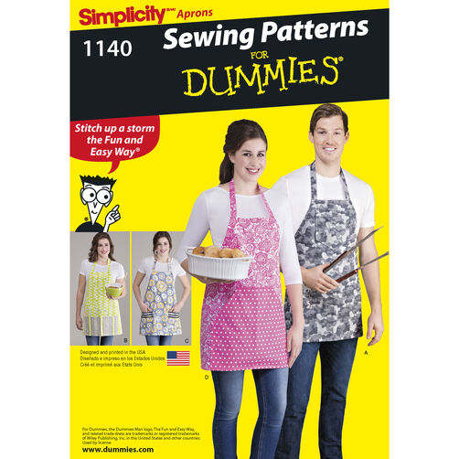 Pattern For Aprons In Four Styles Simplicity