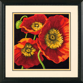 Red Poppy Trio, Needlepoint_71-20073