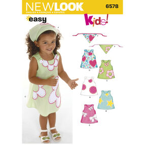 New Look Pattern 6578 Toddler's Dresses