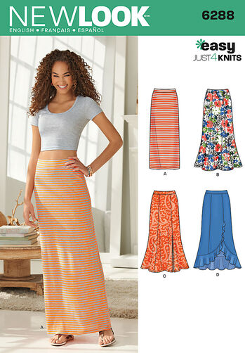 Misses' Pull on Knit Skirts