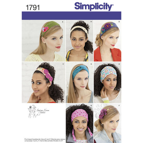 Simplicity Pattern 1791 Misses' Hair Accessories