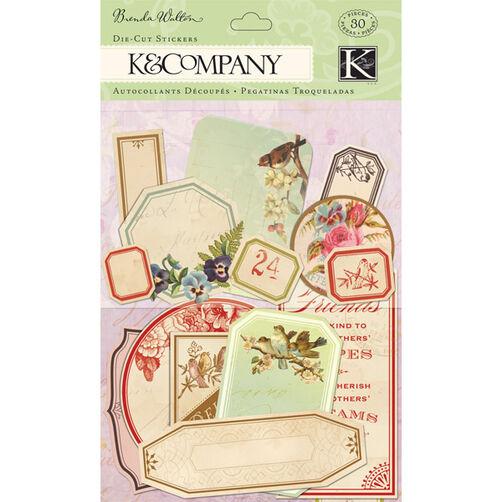 Brenda Walton Flora & Fauna Apothecary Label Die-cut Stickers_30-599420