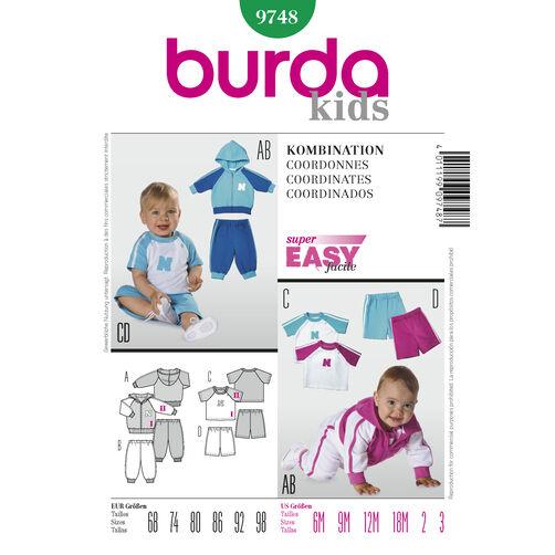 Burda Style Pattern 9748 Coordinates