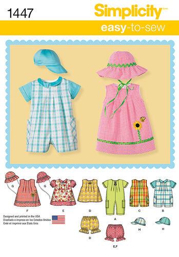 Babies' Romper, Dress, Top, Panties & Hats