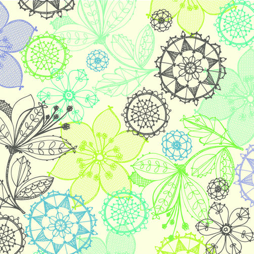 Poppy Seed 12x12 Floral Line Art Shimmer Paper_30-573703