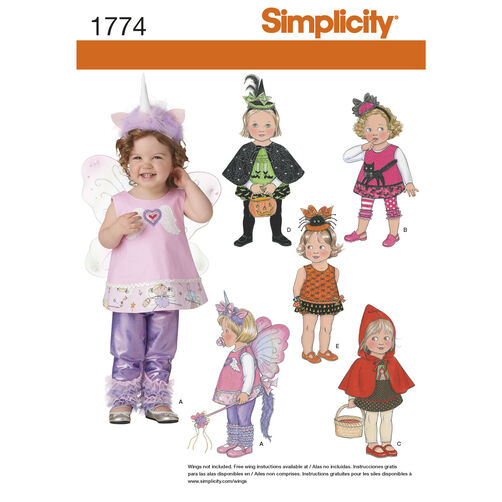 Simplicity Pattern 1774 Toddler Costume