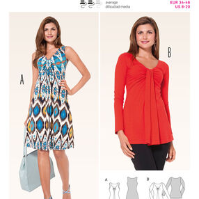 Burda Style Pattern 6974 Tops, Shirts, Blouses