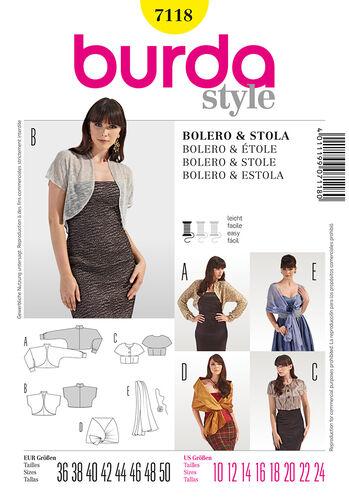 Burda Style Pattern 7118 Bolero & Stole
