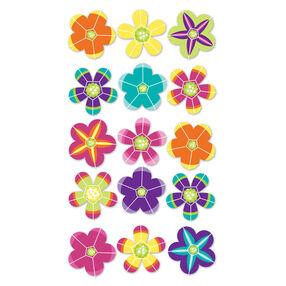 Faceted Hawaiian Flowers Metallic Stickers_SPP1MET79