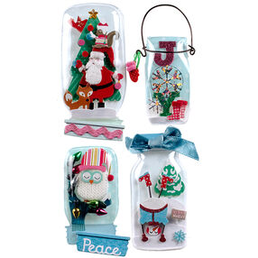 Holiday Snow Globe Jar Stickers_50-50619