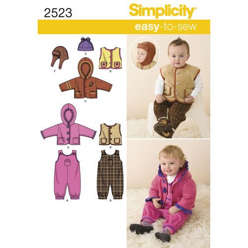 Simplicity Pattern 2523 Babies' Sportswear