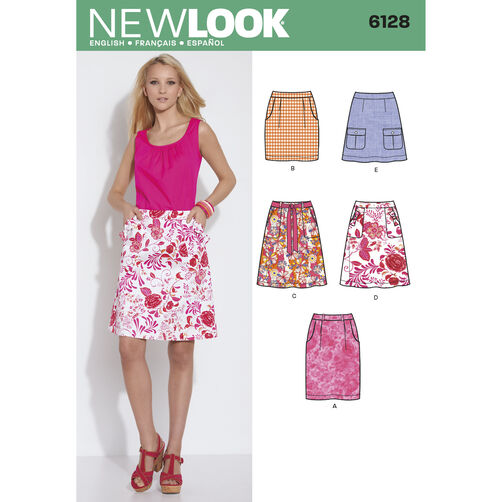 New Look Pattern 6128 Misses' Skirts
