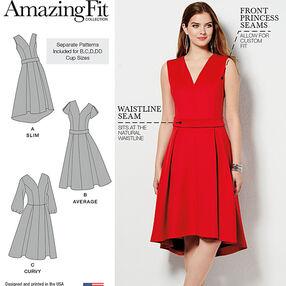 Misses and Plus Size Amazing Fit Dress