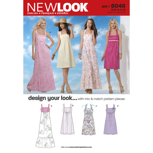New Look Pattern 6046 Misses' Dresses