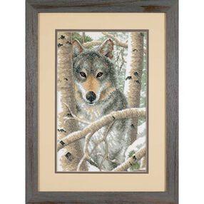 Wintry Wolf, Stamped Cross Stitch_03228