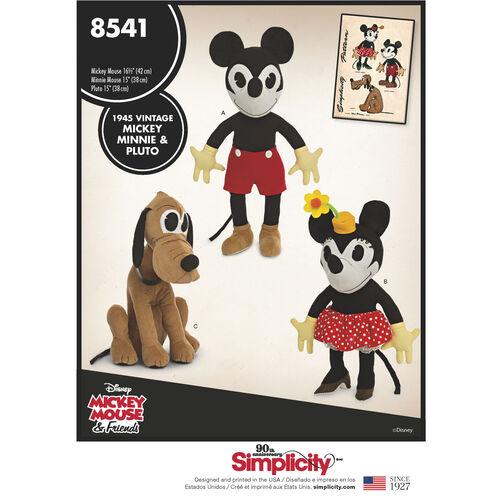 Simplicity Pattern 8541 Vintage Disney Mickey, Minnie and Pluto