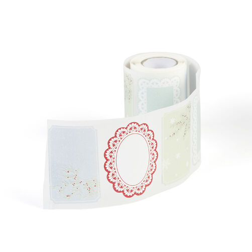 Snow Lace Adhesive Labels_48-30077