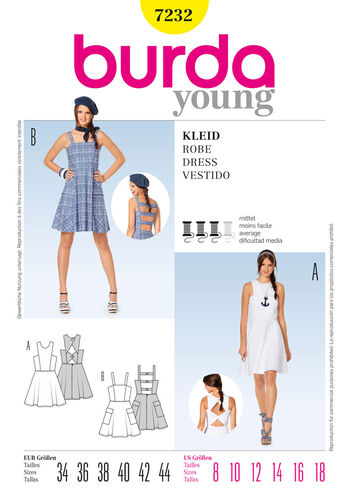Burda Style Pattern 7232 Dress
