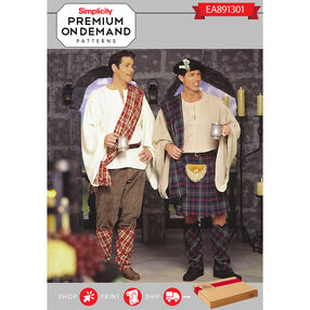 Simplicity Pattern EA891301 Premium Print On Demand Costume Pattern