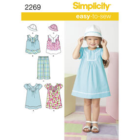 Simplicity Pattern 2269 Child's Easy-to-Sew Dresses