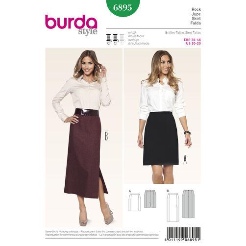Burda Style Pattern 6895 Skirts