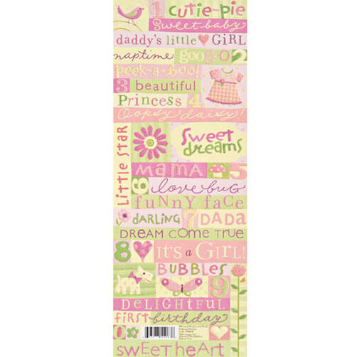 Brenda Walton Small Wonders Girl Words Glitter Embossed Stickers_550636