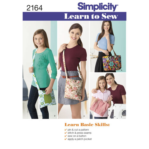 Simplicity Pattern 2164 Learn-to-Sew Bags
