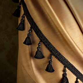 "2-1/2"" Tassel Fringe With Beads"