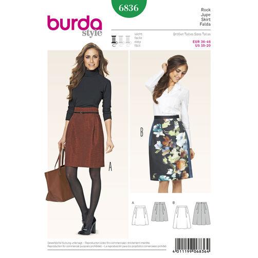 Burda Style Pattern 6836 Skirts