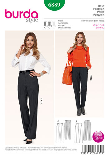 Burda Style Pattern 6889 Petite/Half Sizes