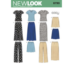 New Look Pattern 6730 Misses' Separates