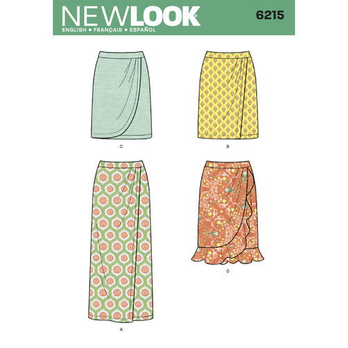 New Look Pattern 6215 Misses' Skirt in Three Lengths
