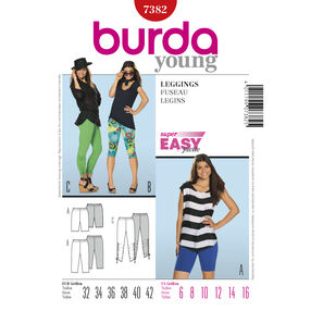 Burda Style Pattern 7382 Leggings