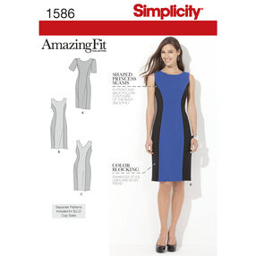 Simplicity Pattern 1586 Misses' and Plus Size Amazing Fit Dress