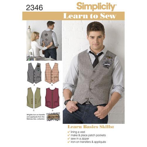 Simplicity Pattern 2346 Men's Vests