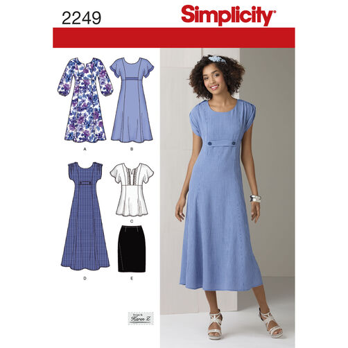 Simplicity Pattern 2249 Misses' & Plus Size Dresses